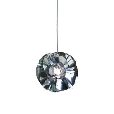 Zaneen Lighting Floral Pendant in Chrome