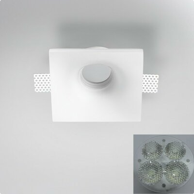 Zaneen Lighting Invisibli 1 Light Recessed Fixed LED SpotLight