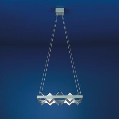 Zaneen Lighting Loft Four Light Square Parallel Ceiling Pendant