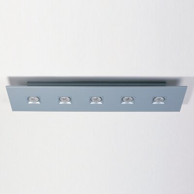 Zaneen Lighting Polifemo Five Light Rectangle Flush Ceiling Mount