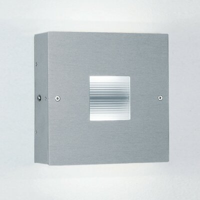 """Zaneen Lighting Finestra 6"""" Contemporary Square 2 Light Wall Sconce"""