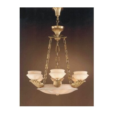 Zaneen Lighting Leon Nine Light Traditional Chandelier in Ancient Gold