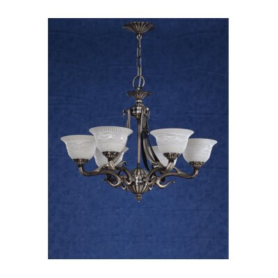 Zaneen Lighting Saraso I Nine Light Traditional Chandelier in Silver Oxide