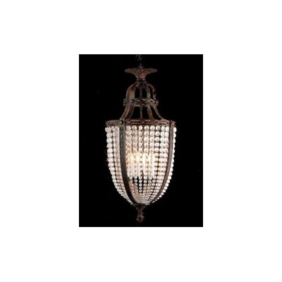 Zaneen Lighting Longas Nine Light Traditional Pendant in Oxidate Bronze