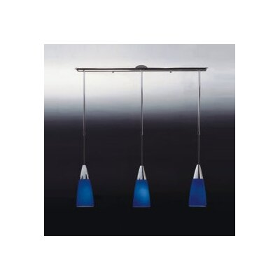 Zaneen Lighting Conus Three Light Pendant in Blue