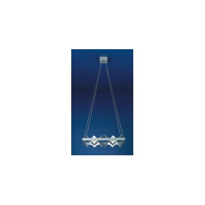 Zaneen Lighting Loft Four Light Square Parallel Ceiling Pendant
