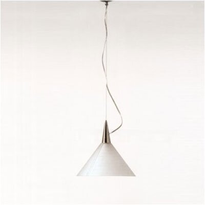 Zaneen Lighting Prima One Light Pendant with Orange Glass Diffuser in Aluminum