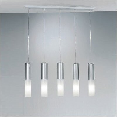 Zaneen Lighting Jazz Five Light Pendant Holder in White