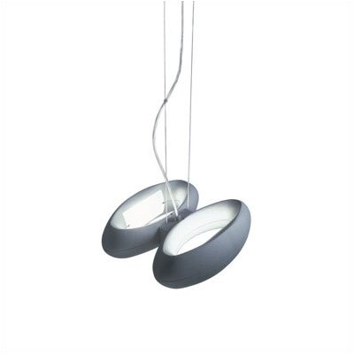 Zaneen Lighting Loop Two Light Pendant in Grey Metal