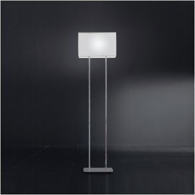 Zaneen Lighting Blissy Floor Lamp in Grey Metal Finish with White Shade