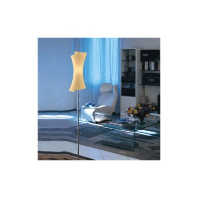 Zaneen Lighting Twister Floor Lamp in Amber