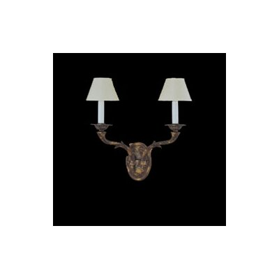 Zaneen Lighting Zamora Traditional 2 Light Wall Sconce