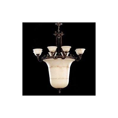 Zaneen Lighting Vidra Chandelier in Rustic Bronze