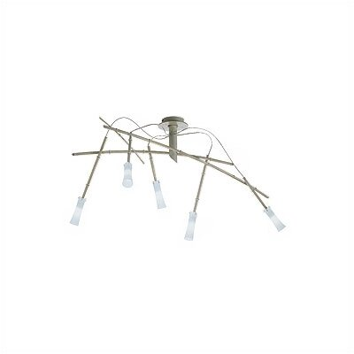 Zaneen Lighting Bolzano Five Light Semi Flush Mount in Bamboo