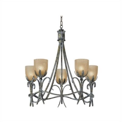 Zaneen Lighting Latina Five Light Chandelier in Vintage Bronze