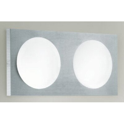 Zaneen Lighting Dome 2 Light Wall Sconce