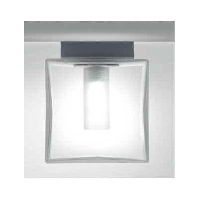 Zaneen Lighting Domino One Light Flush Mount  /  Wall Sconce in Metallic Gray