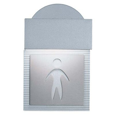 Mini Signal Men's Room Wall Light in Metallic Gray