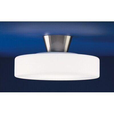 Zaneen Lighting Rondo Semi Flush Mount in Satin Nickel