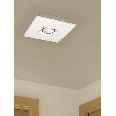 "Zaneen Lighting Polifemo 7.75"" Flush Mount with White Glass"