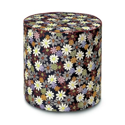 Golden Age B and W Orsay Pouf Ottoman