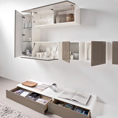 "Calligaris Inbox 15.25"" Square Wall Storage Unit"