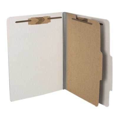 Acco Brands, Inc. Pressboard, 25 Point, 8 1/2 x 11, 4-Section, Metallic Gray
