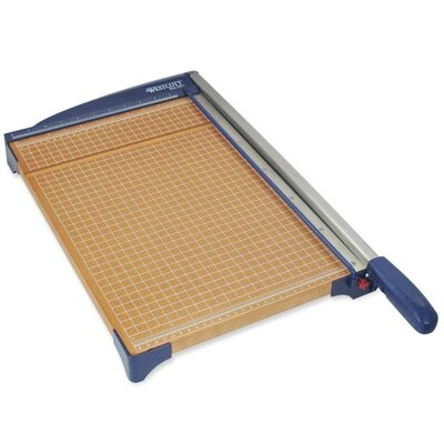 "Acme United Corporation Paper Trimmer, 18"", 13-3/5x26""x3"", Woodgrain/Blue"