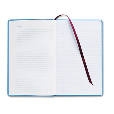 Adams Business Forms Record Ledger Book, Blue Cloth Cover, 150 Pages, 7 1/2 x 12