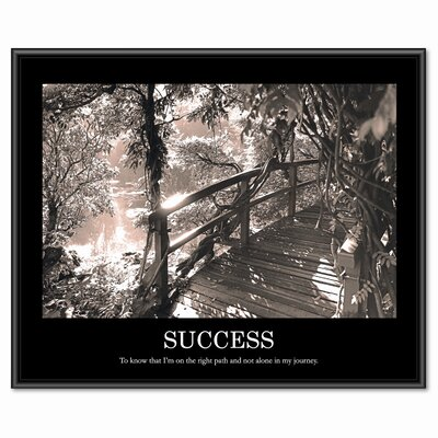 Advantus Corp. Success Framed Photographic Print