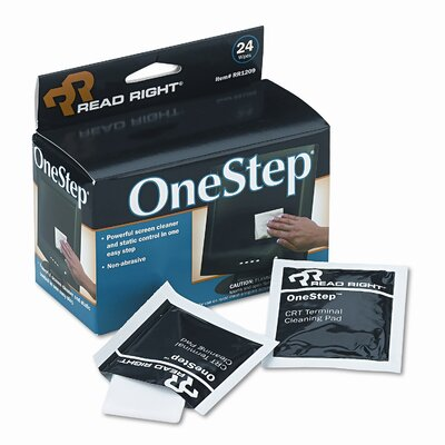 Advantus Corp. Read Right Onestep Screen Cleaner, 5 X 5, 24/Box