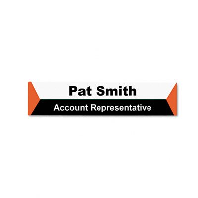 Advantus Corp. Panel Wall Sign Name Holder, Acrylic, 9 X 2