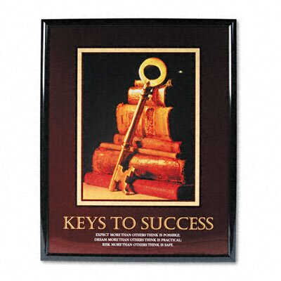 "Advantus Corp. ""Keys To Success"" Framed Motivational Print, 25-1/2w x 31-1/2h"