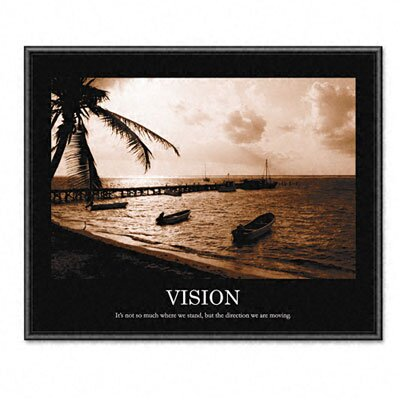 "Advantus Corp. ""Vision"" Framed Sepia-Tone Motivational Print, 30w x 24h"