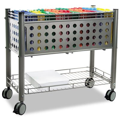 Advantus Corp. Vertiflex Smartworx File Cart, 1-Shelf, 28-1/4W X 13-3/4D X 27-3/8H