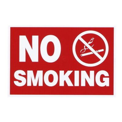 Advantus Corp. Economy No Smoking Wall Sign, Plastic, 12 x 8, Red