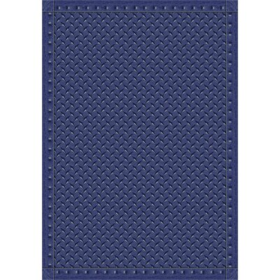 Whimsy Family Legacies Steel Blue Diamond Plate Rug