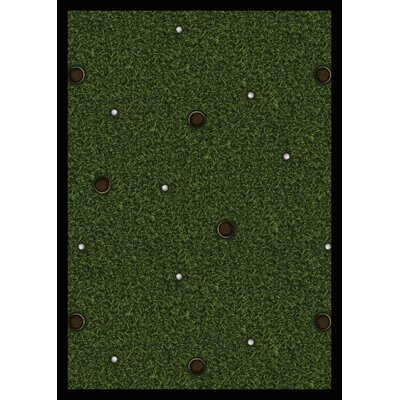 Joy Carpets Sports Back Nine Novelty Rug