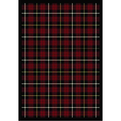 Whimsy Bit O' Scotch Lumberjack Red Rug
