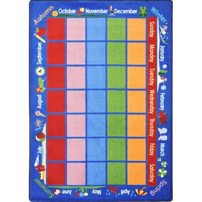 Joy Carpets Educational Celebrations Calendar Kids Rug