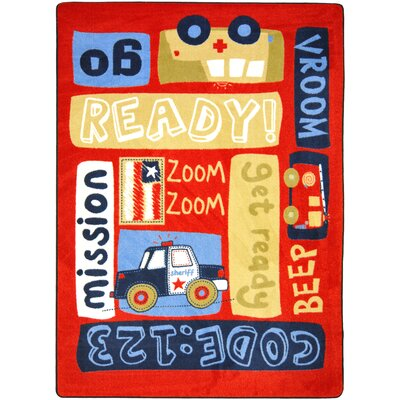 Joy Carpets Just For Kids Ready, Set, Go Kids Rug