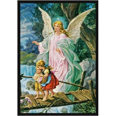 Joy Carpets Faith Based Guardian Angel Novelty Rug