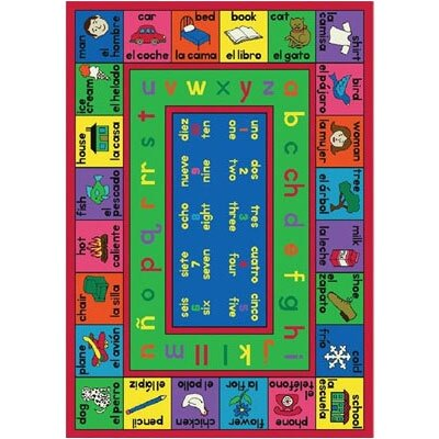 Joy Carpets Educational Spanish LenguaLink Kids Rug