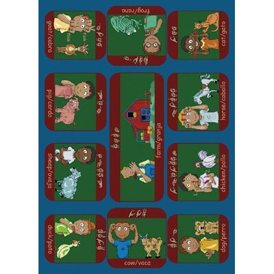 Joy Carpets Educational Signs on the Farm Kids Rug