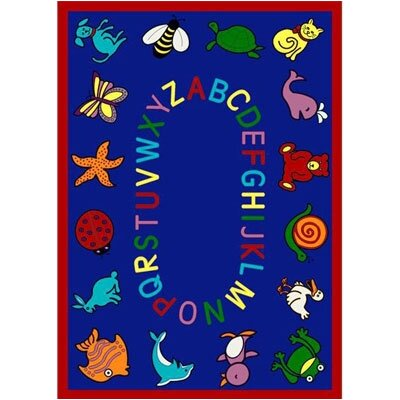 Joy Carpets Educational ABC Animals Bold Design Kids Rug