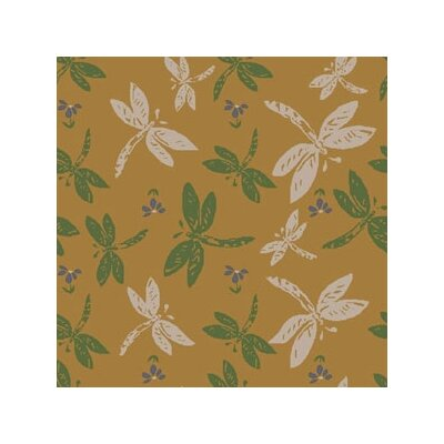 Joy Carpets Nature Gold Dragonflies Novelty Rug