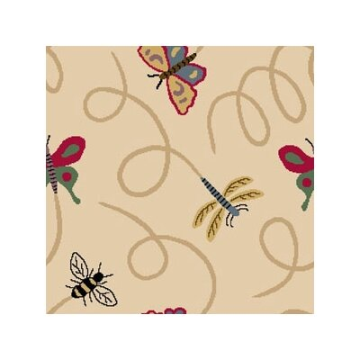 Joy Carpets Nature Beige Wing Dings Novelty Rug