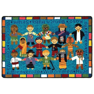 Joy Carpets Educational Essentials VIP Welcome in Many Languages Kids Rug