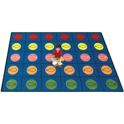Joy Carpets Faith Based Circles and Symbols Kids Rug