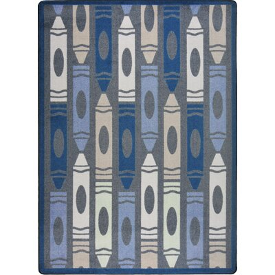 Joy Carpets Playful Patterns Seaside Jumbo Crayons Kids Rug